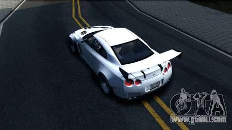 Nissan GT-R R35 Rocket Bunny v2 for GTA San Andreas back view
