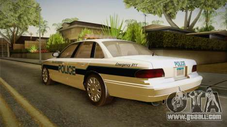 Brute Stainer Blueberry Police 1994 for GTA San Andreas back left view