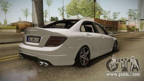 Mercedes-Benz C63 AMG 2012 for GTA San Andreas right view