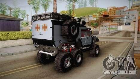 Hummer H1 Monster for GTA San Andreas back left view