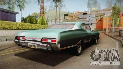 Chevrolet Impala 1967 for GTA San Andreas back left view