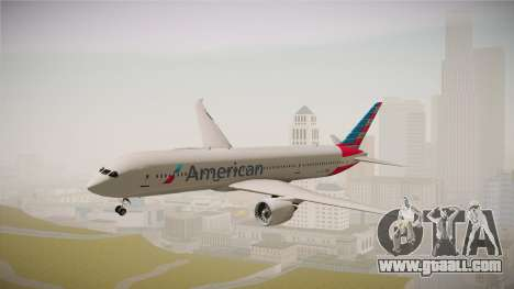 Boeing 787 American Airlines for GTA San Andreas back left view