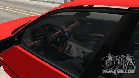 BMW 3 Series E46 Sedan for GTA San Andreas inner view