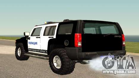 Hummer H2 Police V1 for GTA San Andreas left view