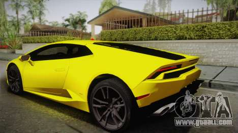Lamborghini Huracan FBI 2014 for GTA San Andreas left view