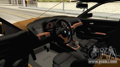 BMW 320i E46 for GTA San Andreas inner view