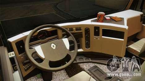 Renault Premiun 450 6x2 Lift for GTA San Andreas inner view
