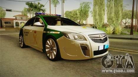 Opel Insignia Guardia Civil Traffic for GTA San Andreas