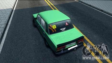 ВАЗ 2105 Winter Drift for GTA San Andreas back view