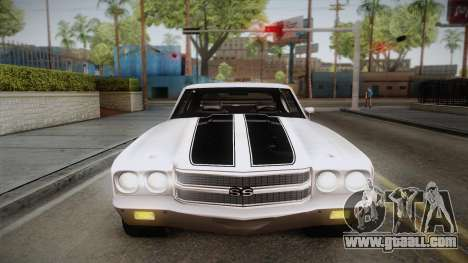 Chevrolet Chevelle SS 1970 for GTA San Andreas side view