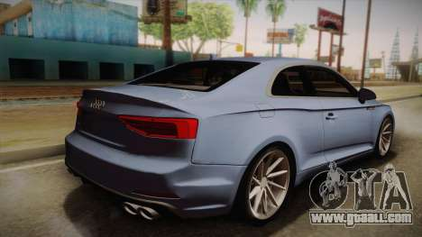 Audi S5 2017 for GTA San Andreas left view