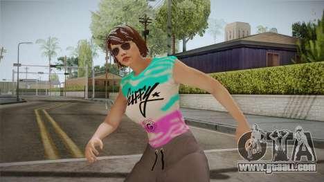 GTA Online DLC Import-Export Female Skin 1 for GTA San Andreas