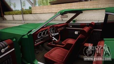 Ford Gran Torino 1972 for GTA San Andreas inner view