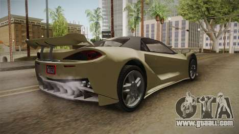 GTA 5 Progen Itali GTB for GTA San Andreas left view