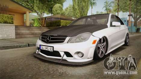 Mercedes-Benz C63 AMG 2012 for GTA San Andreas back left view