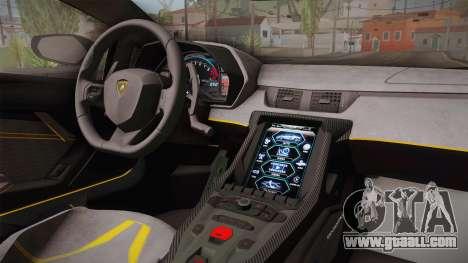 Lamborghini Centenario LP770-4 2017 Carbon PJ for GTA San Andreas inner view
