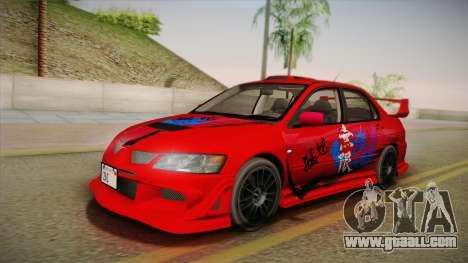Mitsubishi Lancer GSR Evolution VIII 2003 for GTA San Andreas