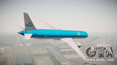 Boeing 787 KLM for GTA San Andreas left view