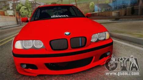 BMW 3 Series E46 Sedan for GTA San Andreas right view