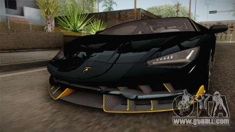 Lamborghini Centenario LP770-4 2017 Carbon PJ for GTA San Andreas side view