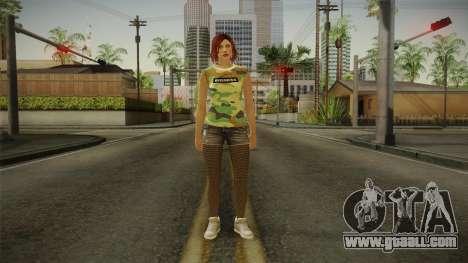 GTA 5 Online DLC Female Skin for GTA San Andreas second screenshot