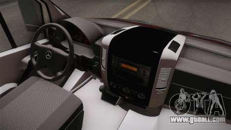Mercedes-Benz Sprinter for GTA San Andreas inner view