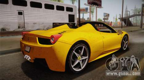 Ferrari 458 Spider FBI for GTA San Andreas left view