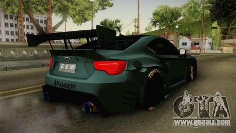 Subaru BRZ Pandem Rocket Bunny v3 for GTA San Andreas left view