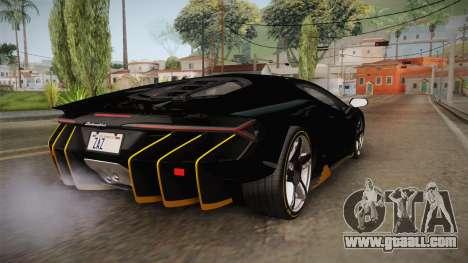 Lamborghini Centenario LP770-4 2017 Carbon PJ for GTA San Andreas left view
