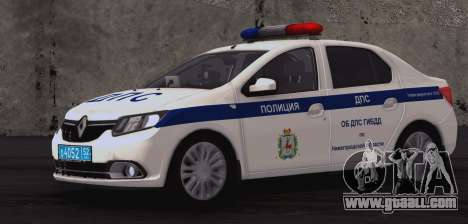 Renault Logan ABOUT traffic police for GTA San Andreas back view