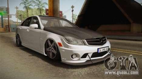 Mercedes-Benz C63 AMG 2012 for GTA San Andreas