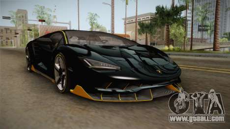 Lamborghini Centenario LP770-4 2017 Carbon PJ for GTA San Andreas