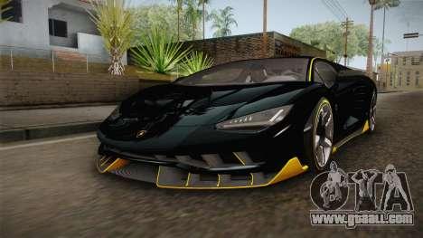 Lamborghini Centenario LP770-4 2017 Carbon PJ for GTA San Andreas right view