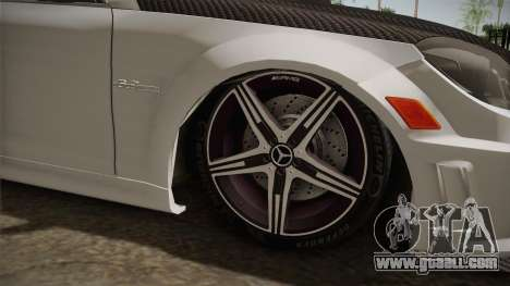 Mercedes-Benz C63 AMG 2012 for GTA San Andreas back view