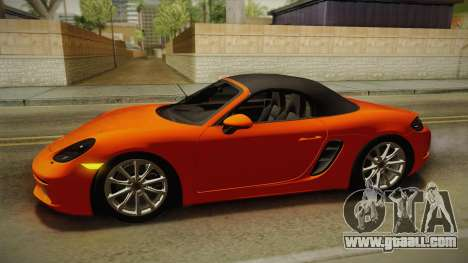 Porsche 718 Boxster S 2017 for GTA San Andreas upper view