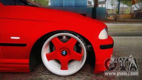 BMW 3 Series E46 Sedan for GTA San Andreas back left view
