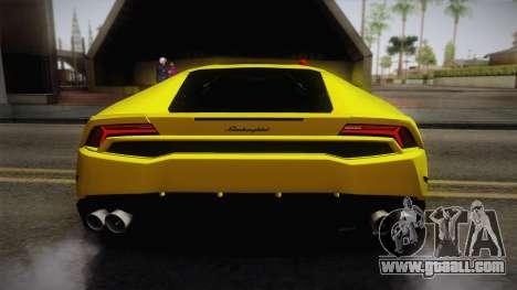 Lamborghini Huracan FBI 2014 for GTA San Andreas back view