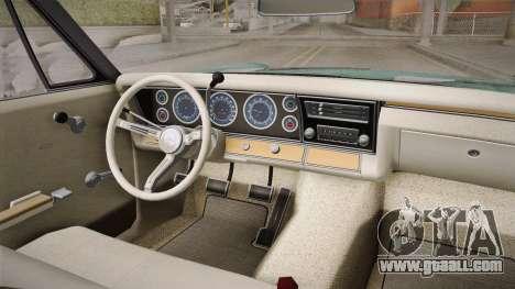 Chevrolet Impala 1967 for GTA San Andreas back view