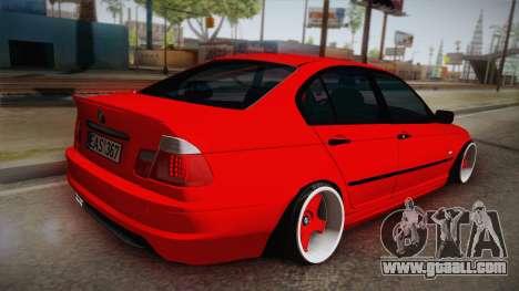 BMW 3 Series E46 Sedan for GTA San Andreas left view