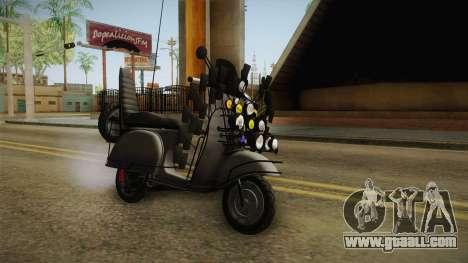 GTA 5 Pegassi Faggio Extreme Tuning v3 for GTA San Andreas right view