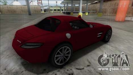 2010 Mercedes-Benz SLS AMG FBI for GTA San Andreas left view