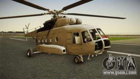 Mil Mi-8 MTV-1 Croatian Air Force for GTA San Andreas back left view