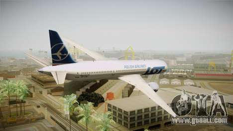 Boeing 787 LOT Polish Airlines for GTA San Andreas left view