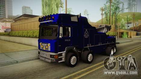 MAN F2000 Tow Truck PDRM for GTA San Andreas back left view