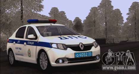 Renault Logan ABOUT traffic police for GTA San Andreas