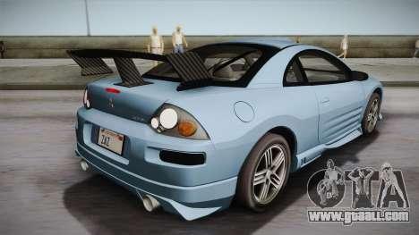 Mitsubishi Eclipse GTS Mk.III 2003 IVF for GTA San Andreas wheels
