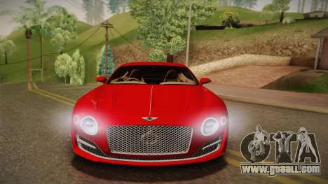 Bentley EXP 10 Speed 6 for GTA San Andreas back view