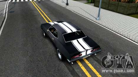 Chevrolet Camaro 1969 for GTA San Andreas back view