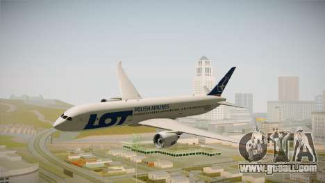Boeing 787 LOT Polish Airlines for GTA San Andreas back left view