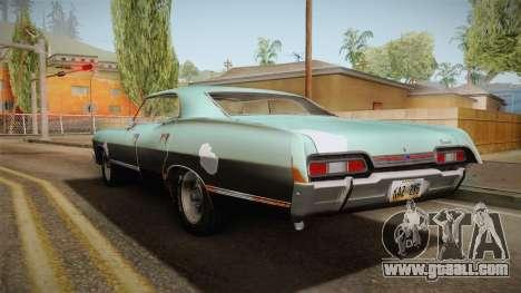 Chevrolet Impala 1967 for GTA San Andreas left view